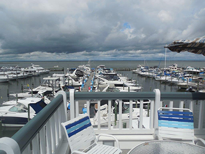 Shelter Harbor Pool deck view